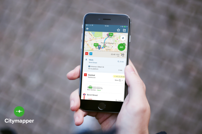 City Mapper lance sa carte de transports londoniens